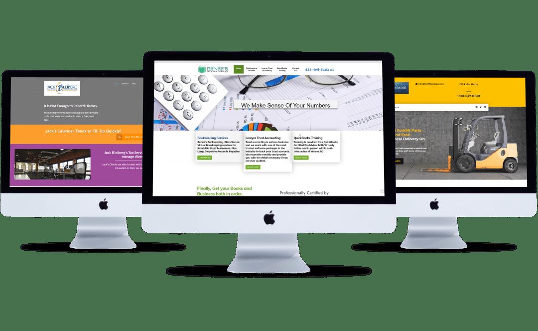 Examples of Brick N Mortar Marketing Website Designs